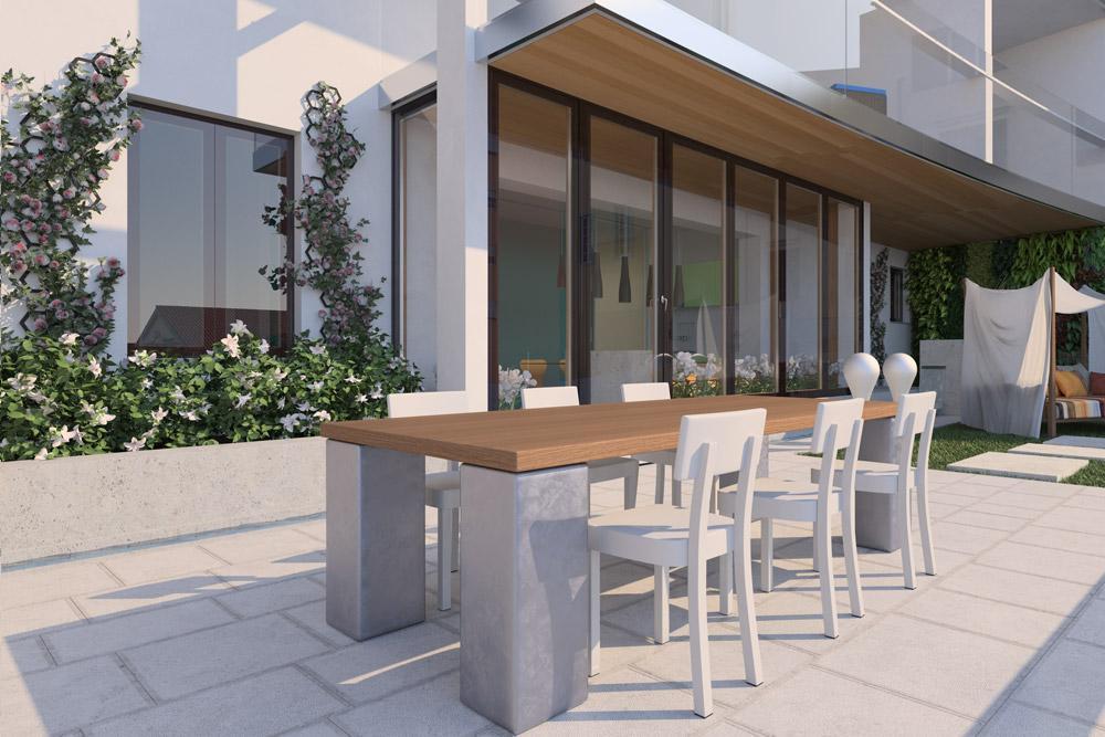Residenze panorama giustinelli trieste for Rendering giardino